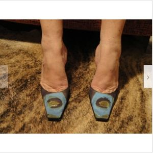 Giuseppe Zanotti Multicolor Slides Mules SZ 6.5